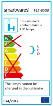 LED-Strahler / Baustrahler / Fluter FL1-B50B Smartwares 50Watt schwarz Bild 3