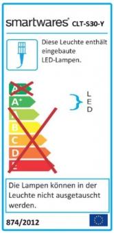Smartwares LED Scheinwerfer CLT-S30Y auf Stativ 30W 2250lm Bild 2