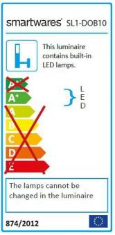 Smartwares LED-Strahler Sicherheitsstrahler SL1-DOB10 10W 750lm Bild 2
