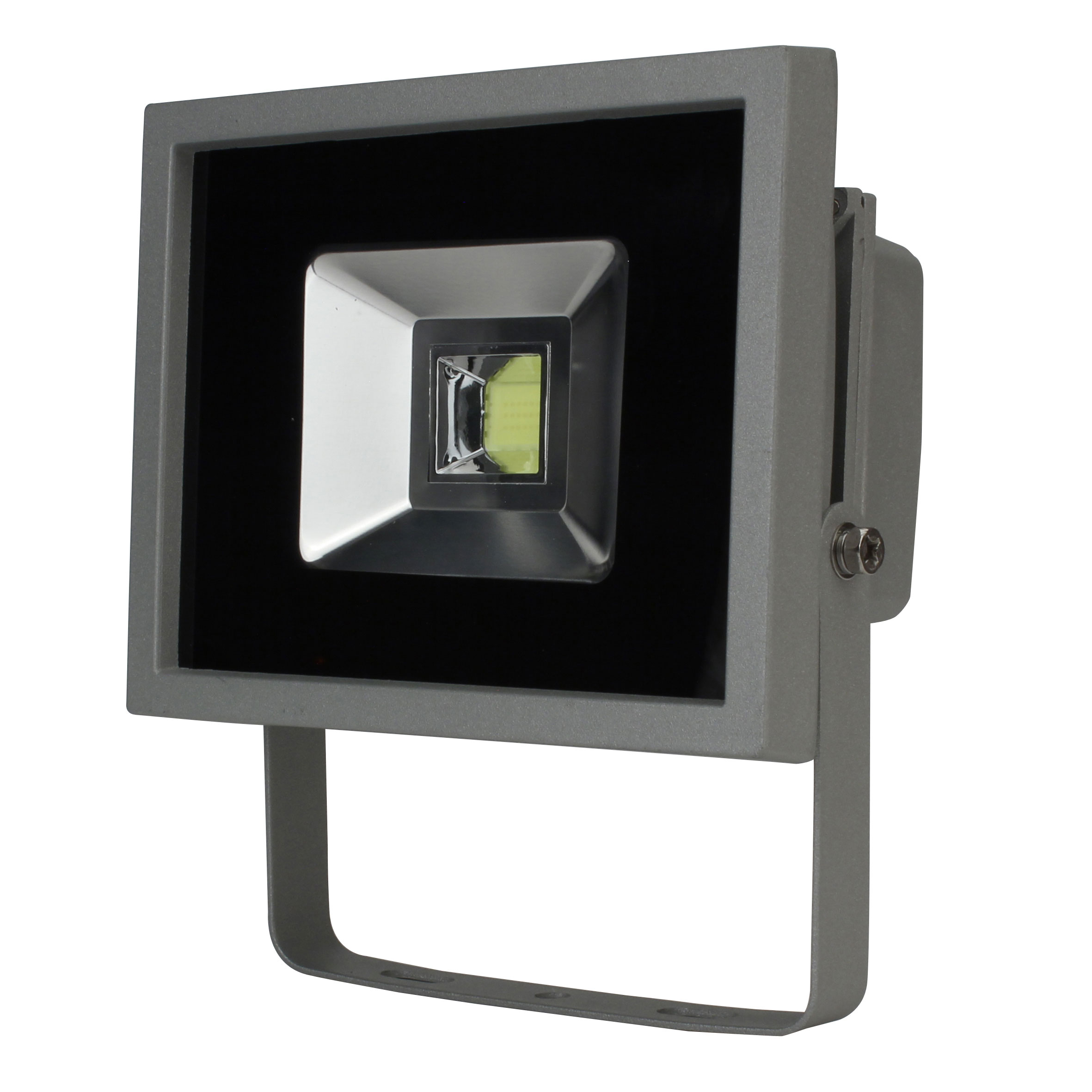 unitec led strahler led fluter ip65 grau 20 watt bei. Black Bedroom Furniture Sets. Home Design Ideas