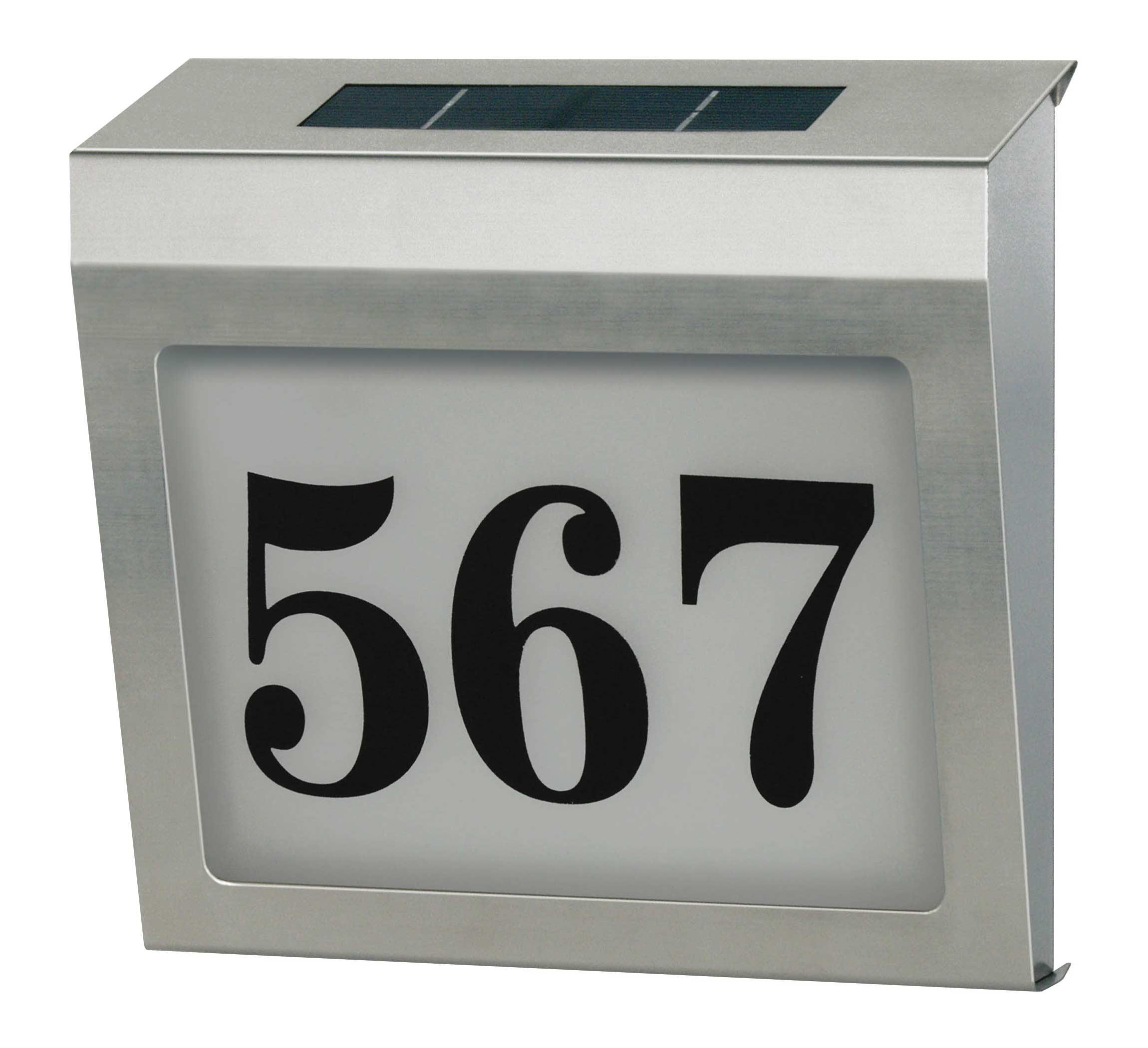 Brennenstuhl Solar Hausnummer Beleuchtung Solar Power SH 4000 4 LEDs Bild 1