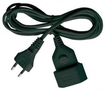 Brennenstuhl Verlängerungsleitung / Flachkabel schwarz 3m Bild 1