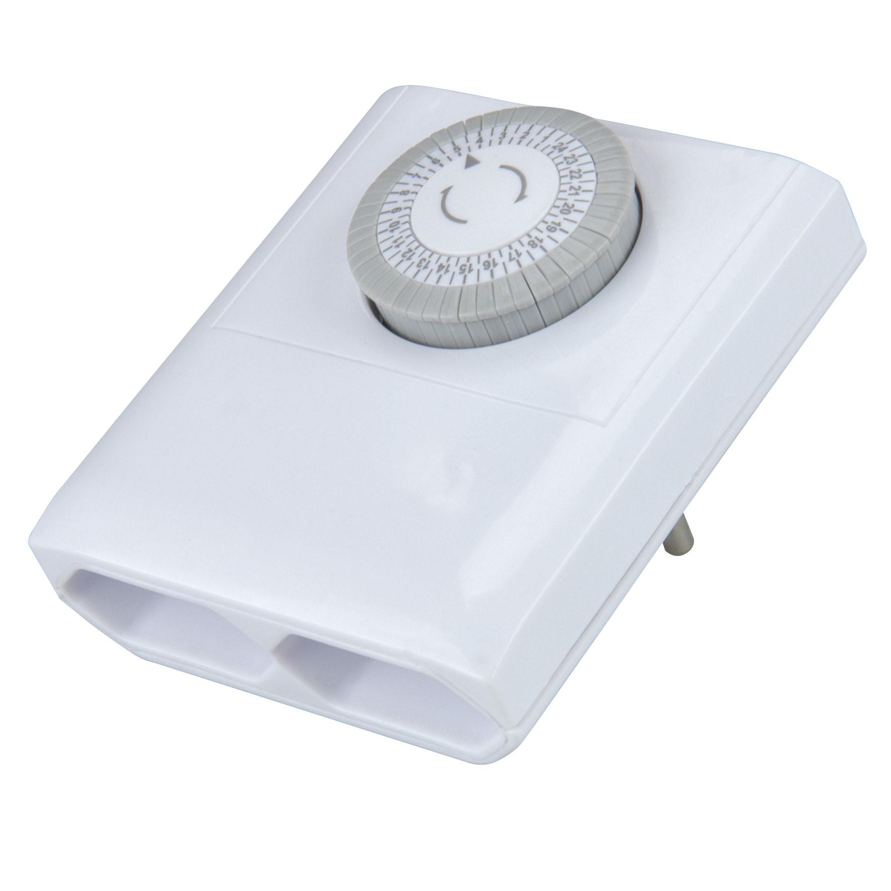 Unitec Tageszeitschaltuhr analog für Innen inkl. 2 Eurosteckdosen Bild 2