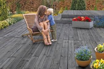 Terrassendiele Nadelholz KDI grau 28 x 145 mm Länge 300 cm Bild 3