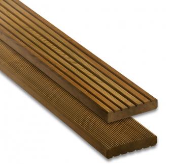 Terrassendiele Nadelholz kdi braun 28 x 145 mm Länge 300 cm Bild 1