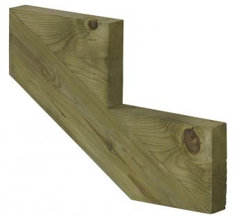 Treppenwange für 2 Stufen Plus Massivholz druckimprägniert 1 Stück Bild 1