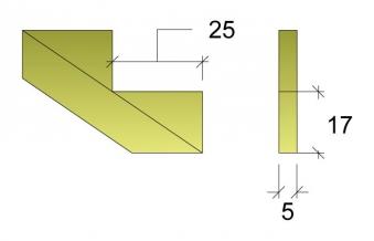 Treppenwange für 2 Stufen Plus Massivholz druckimprägniert 1 Stück Bild 3