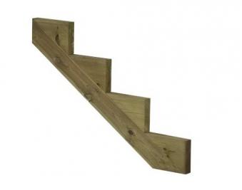Treppenwange für 4 Stufen Plus Massivholz druckimprägniert 1 Stück Bild 1
