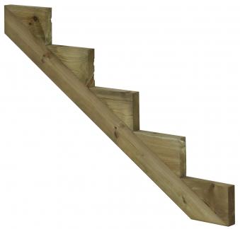 Treppenwange für 5 Stufen Plus Massivholz druckimprägniert 1 Stück Bild 1