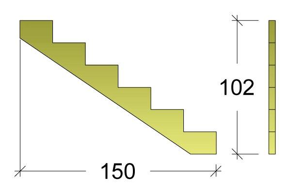 Treppenwange für 6 Stufen Plus Massivholz druckimprägniert 1 Stück Bild 3