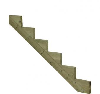 Treppenwange für 6 Stufen Plus Massivholz druckimprägniert 1 Stück Bild 1