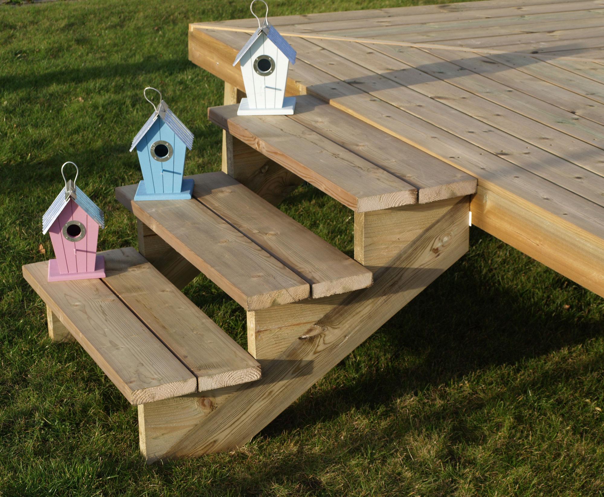 Treppenwange für 7 Stufen Plus Massivholz druckimprägniert 1 Stück Bild 2