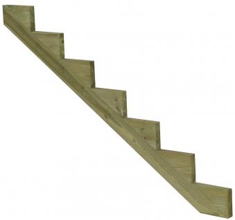 Treppenwange für 7 Stufen Plus Massivholz druckimprägniert 1 Stück Bild 1