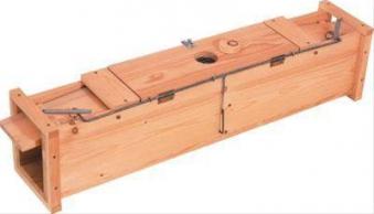 Holzkastenlebendfalle f. Marder, Katzen, Iltis Bild 1