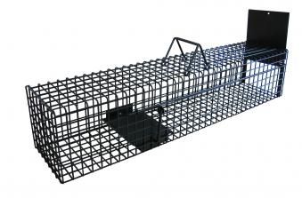 Lebendfalle Habau Metall mit einseitigem Einlauf 18x22x100cm Bild 1
