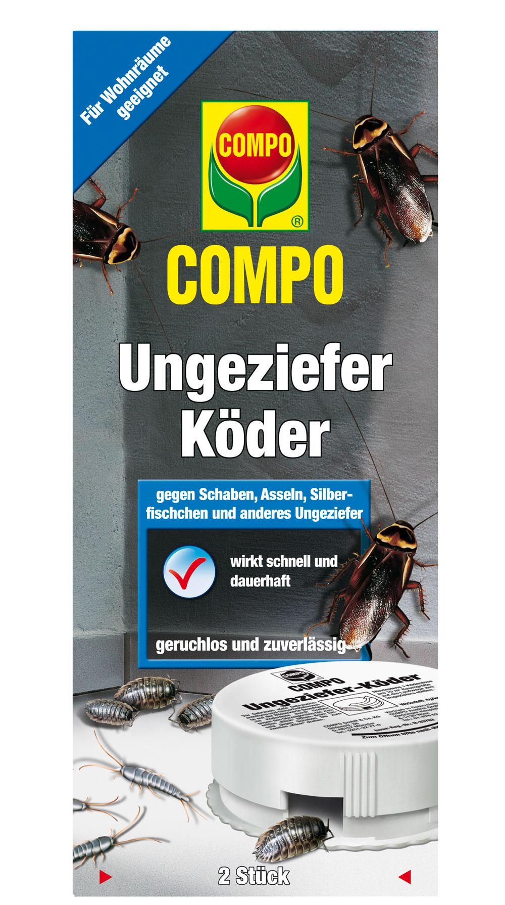 Compo Ungeziefer Köder Dose gegen Silberfischchen 2 Stück Bild 1