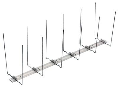Taubenschutz / Taubenabwehr 2-reihig Typ 1 Polycarbonatleiste Bild 1
