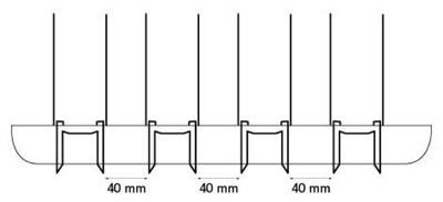 Taubenschutz / Taubenabwehr Typ 4 Steelinox Bild 3