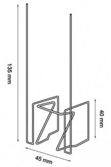 Taubenschutz / Taubenabwehr Typ 4 Steelinox Bild 1