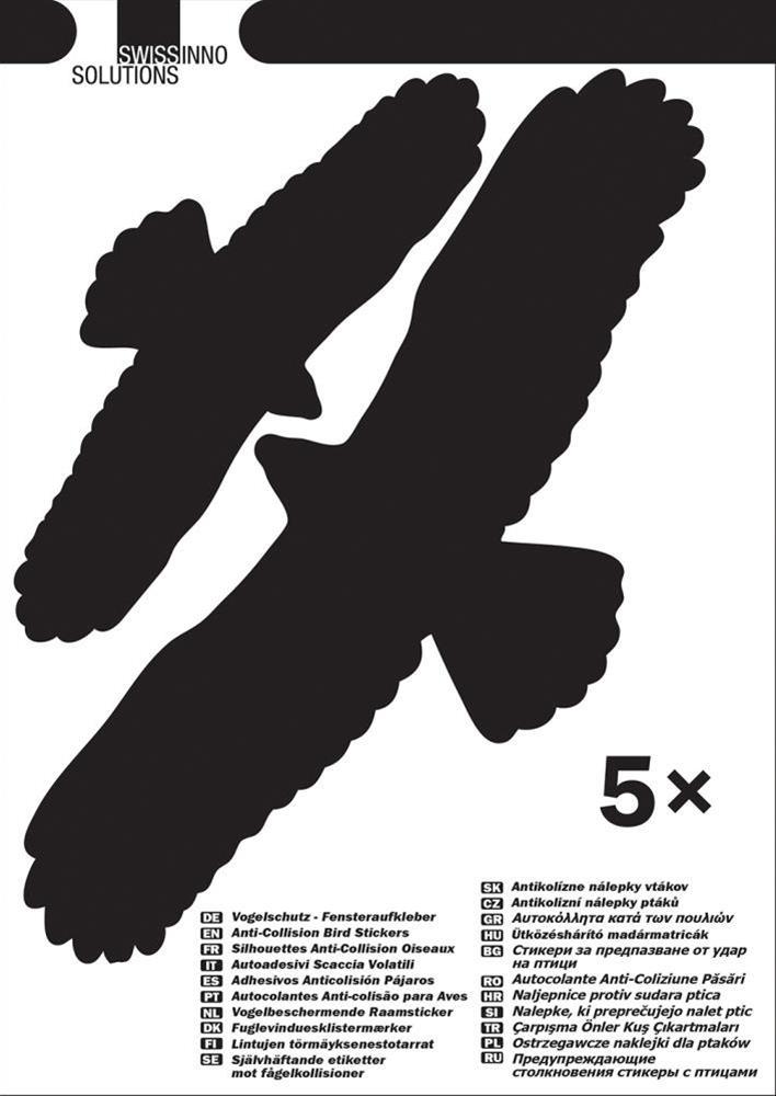 Vogelschutz-Fensteraufkl.Swissinno Solution, 5 Stk Bild 1