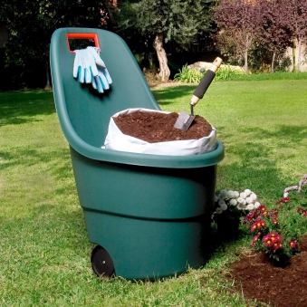 Gartentrolley / Kübelschubkarre Easy Go grün 60 Liter Bild 2