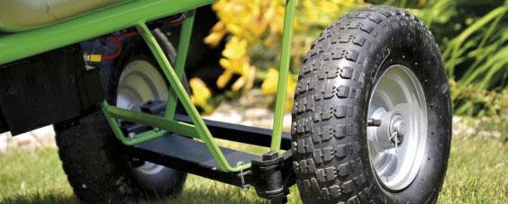 Hinterräder / Doppelachse für Elektro Schubkarre MOTOkarre Standard Bild 1