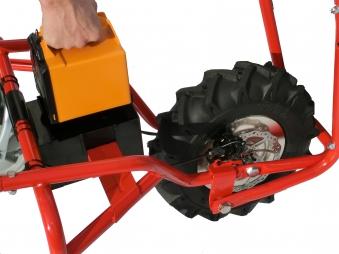 Powerpac Elektro-Dumper / Schubkarre Elektroantrieb ED120 montiert Bild 3