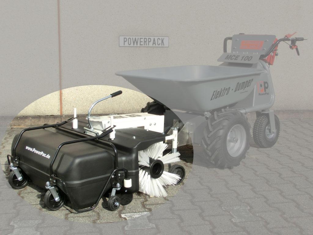 Powerpac Kehrbesen / Kehrmaschine mit Auffangbehälter für MCE400 85cm Bild 1