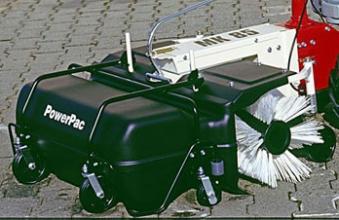 Powerpac Kehrbesen mit Behälter als Kehrmaschine für MC140 und MK85