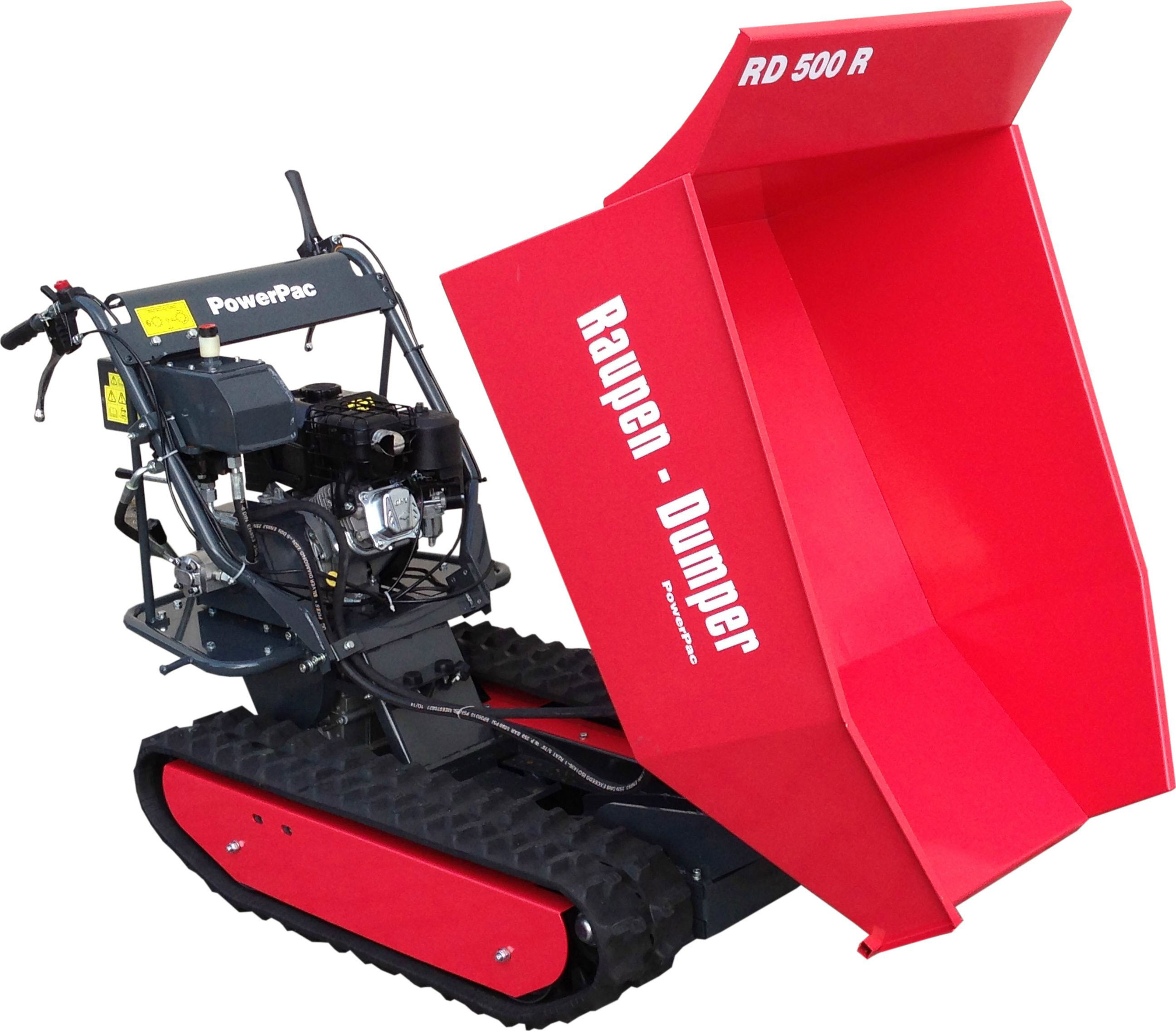 Powerpac Raupen-Dumper RD500R mit Schüttmulde oder Pritsche Bild 2