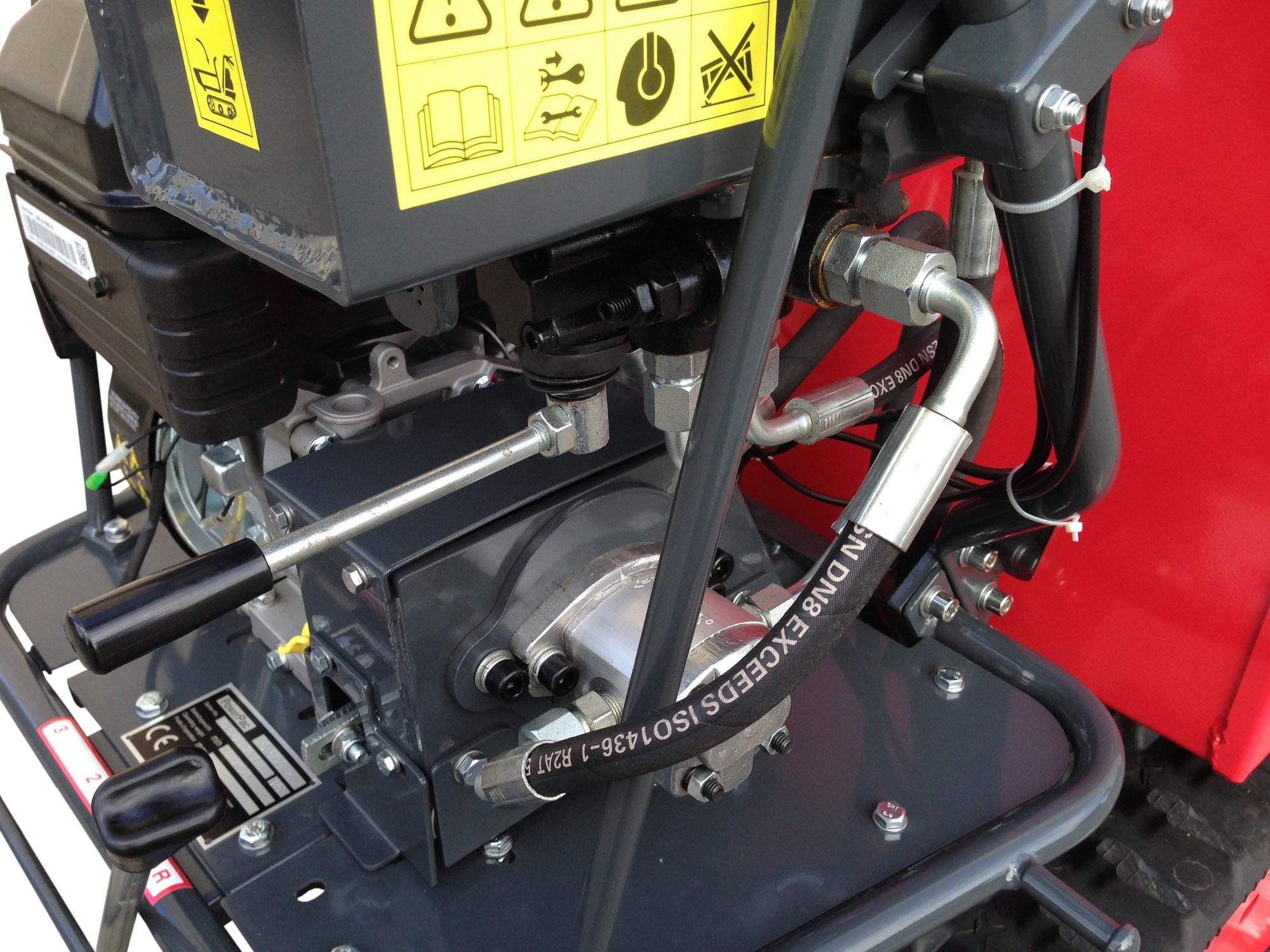 Powerpac Raupen-Dumper RD500R mit Schüttmulde oder Pritsche Bild 3