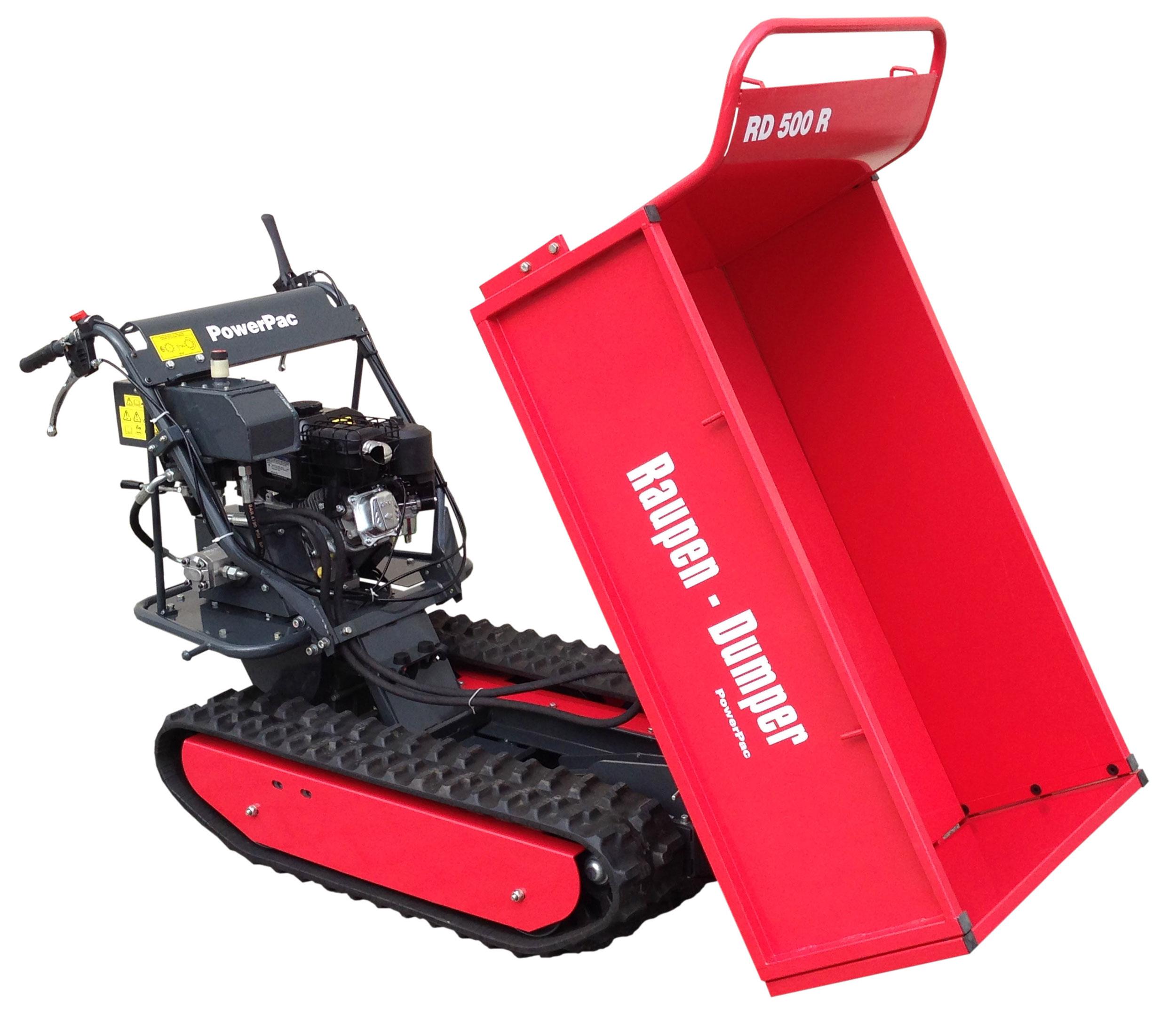 Powerpac Raupen-Dumper RD500R mit Schüttmulde oder Pritsche Bild 4