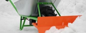 Schneepflug für MOTOkarre Elektroschubkarre Standard/Power Bild 1
