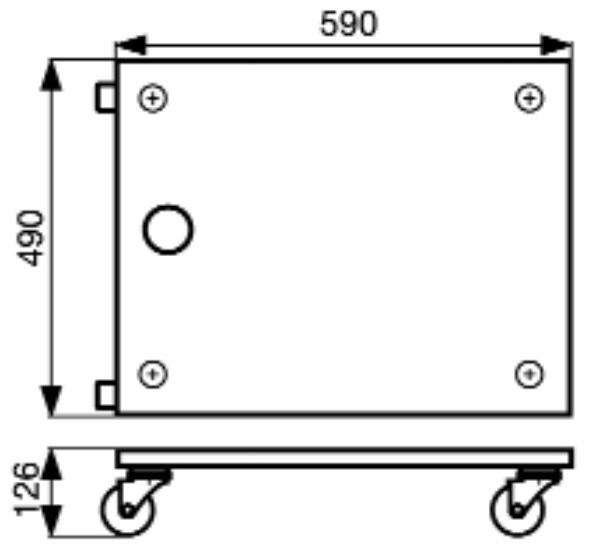 Wagner Transporthilfe MM 1113 / Transportroller / Möbelroller 400kg Bild 2