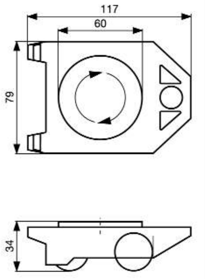 Wagner Transporthilfe / Transportroller Rolly Drehteller 200kg 1Stück Bild 2