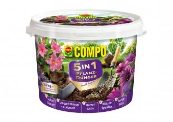 COMPO 5in1 Pflanzdünger und mehr Eimer 1,5kg Bild 1