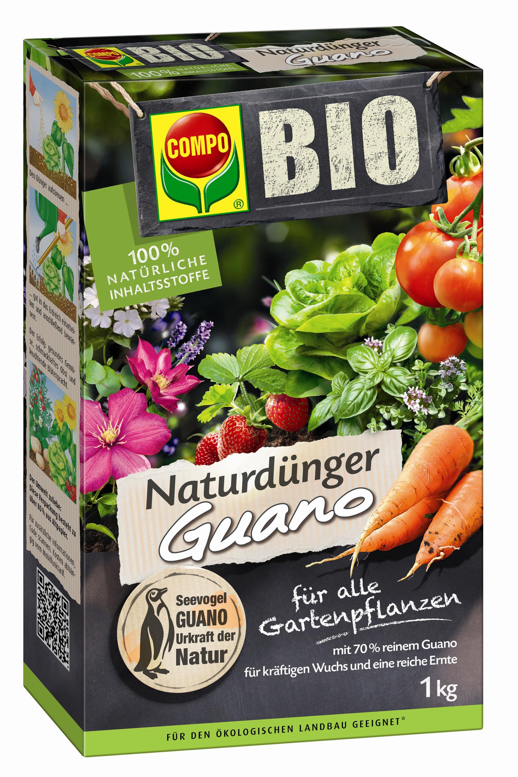 COMPO BIO NaturDünger Guano 1kg Bild 1