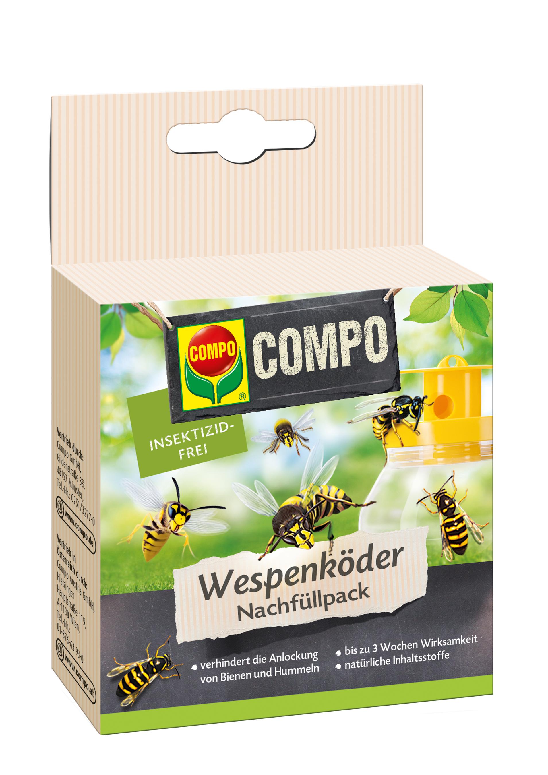 COMPO Wespenfalle Köder Nachfüllpack 3 Stück Bild 1