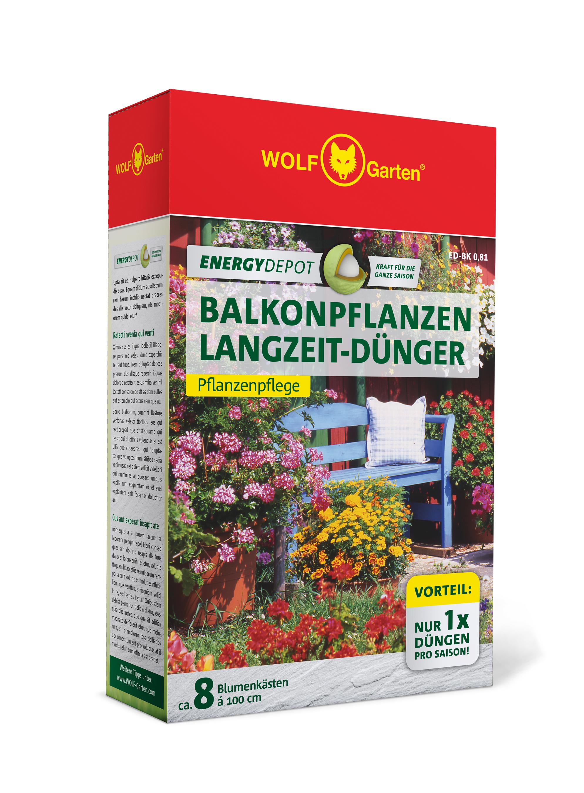 Wolf Garten Balkonpflanzen Langzeit-Dünger Energy Depot 810g Bild 1
