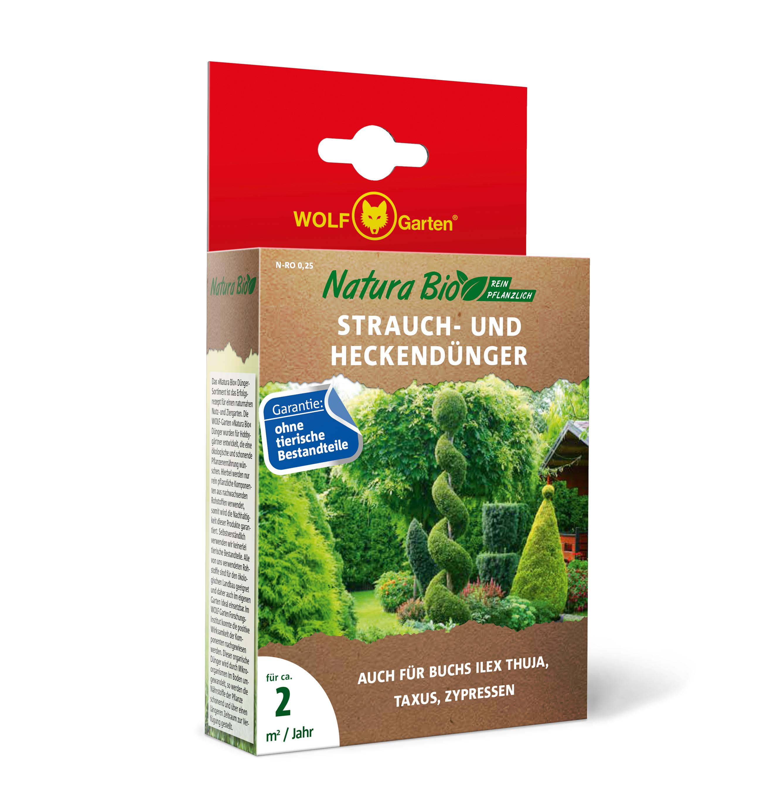 Wolf Garten Natura Bio Strauch- und Heckendünger 250g Bild 1