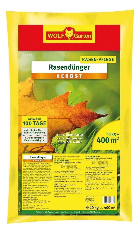 Wolf Garten Rasendünger Herbst Dünger LK-MU 400 für 400m² Bild 1