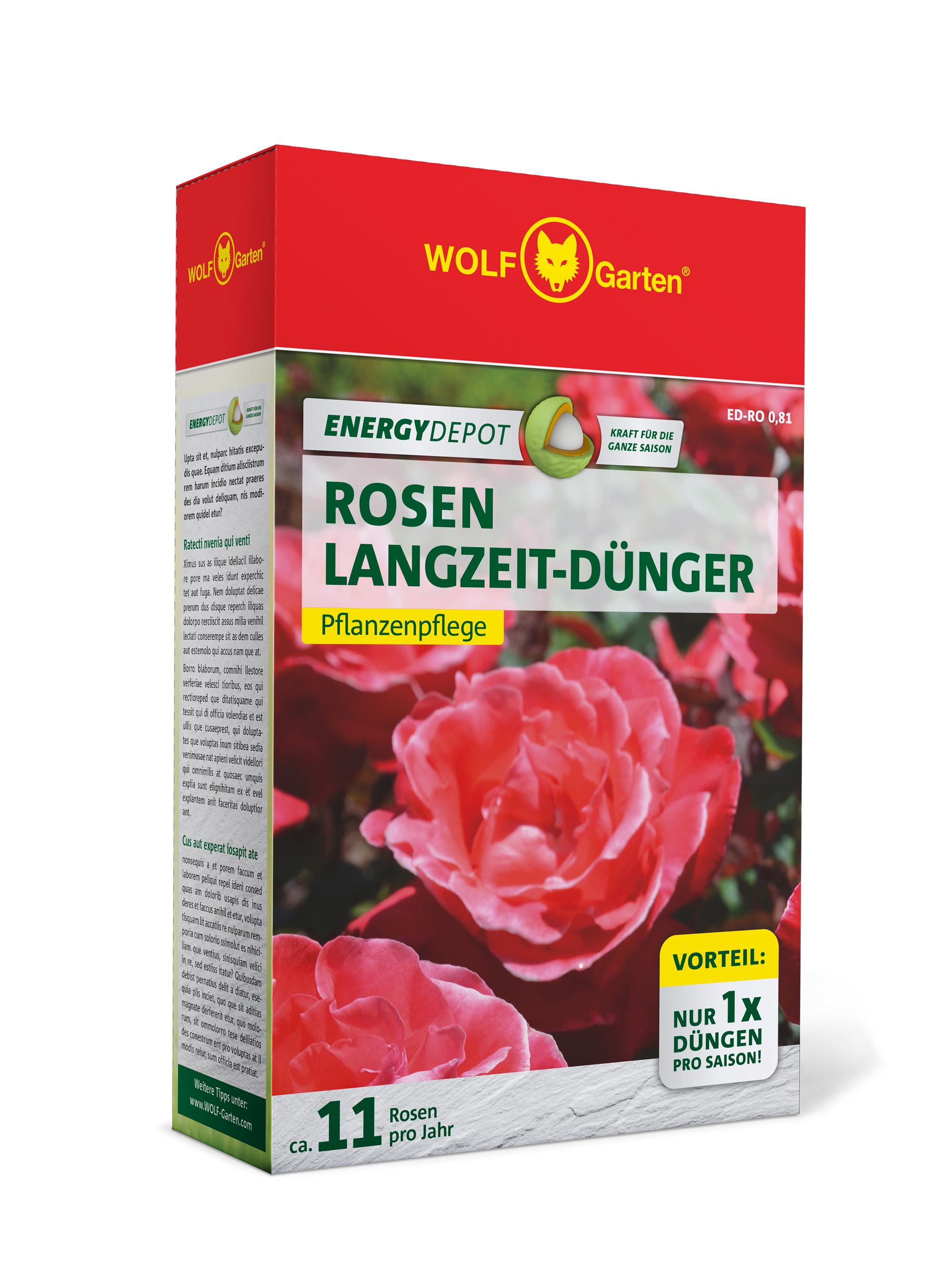 Wolf Garten Rosen Langzeit-Dünger Energy Depot 810g Bild 1