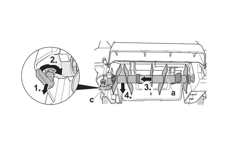Messerwelle Ersatzteil WBS3701 für Wolf Garten Elektro-Vertikutierer Bild 1