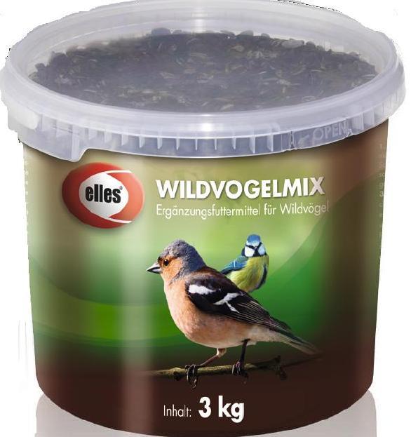 Vogelfutter 4-Jahreszeiten Wildvogelmix elles 3 kg Bild 1