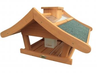 Futterhaus / Vogelhaus Habau Estland mit Silo mit Ständer Bild 1