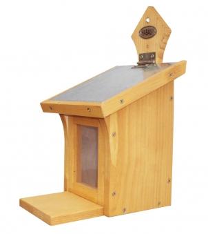 Habau Eichhörnchen Futterstation Holz 16x19,5x28,5cm Bild 1