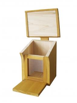 Habau Eichhörnchen Futterstation Holz 16x19,5x28,5cm Bild 2