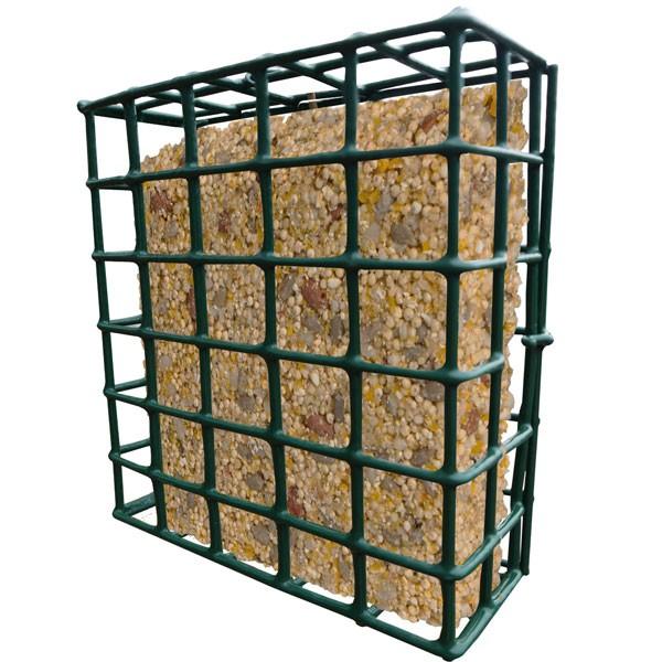 Vogelfutterkorb / Gitterkorb Habau aus Metall für Energieblöcke Bild 1