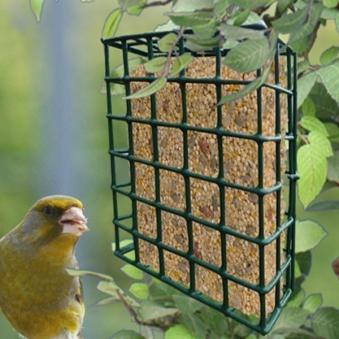 Vogelfutterkorb / Gitterkorb Habau aus Metall für Energieblöcke Bild 2