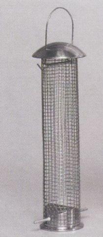 Vogelfutterstation / Vogelfuttersäule verzinkt groß 10x33cm Bild 1
